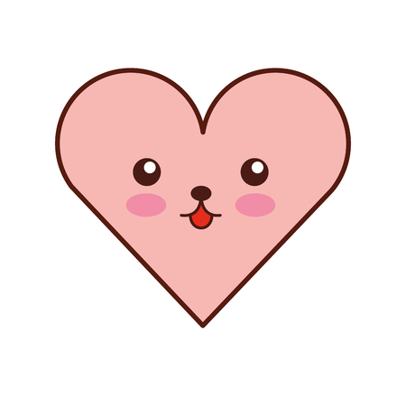 heart love character vector illustration design