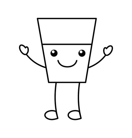 water glass character vector illustration design Illustration