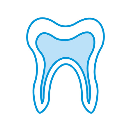 Human tooth isolated icon vector illustration design Stock fotó - 94941937