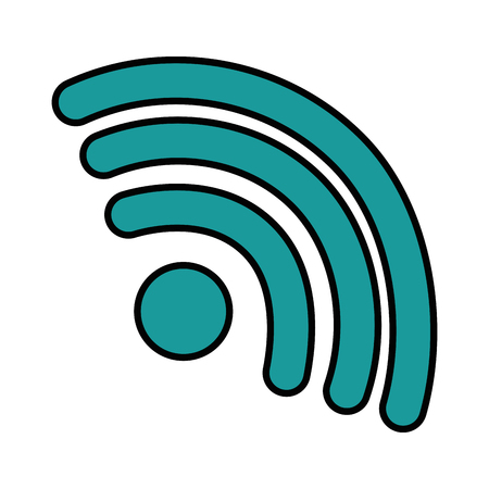 wifi waves signal icon vector illustration design