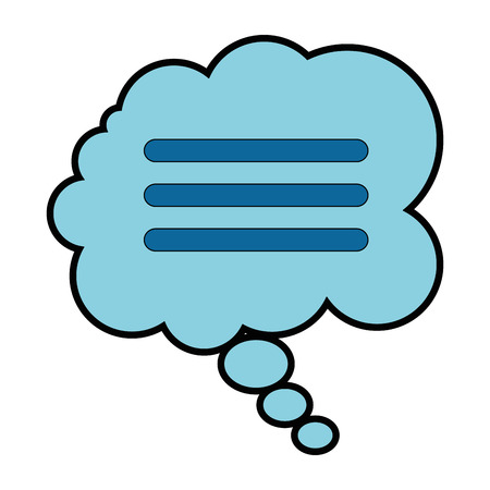 Speech bubble isolated icon vector illustration design. Stok Fotoğraf - 94964933