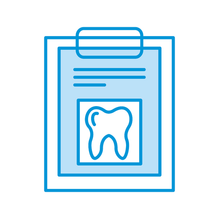 clipboard with Human tooth isolated icon vector illustration design Stock Illustratie