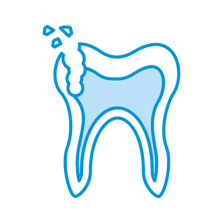 Human tooth with decay vector illustration design Ilustracja