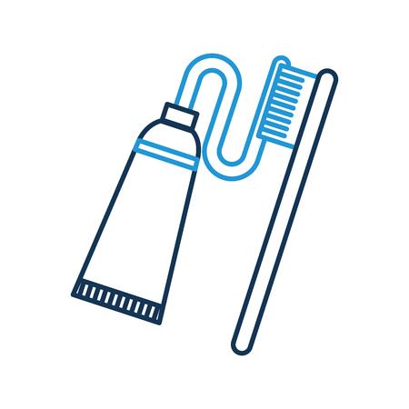 ペーストベクトルイラストデザインの歯歯ブラシ 写真素材 - 94961633