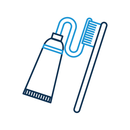 dental toothbrush with paste vector illustration design