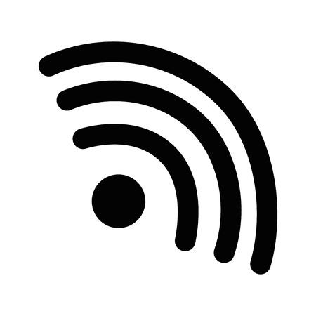 와이파이 신호 아이콘 벡터 일러스트 디자인
