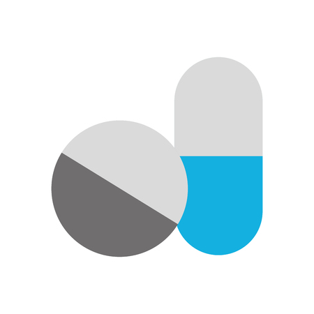capsule drug isolated icon vector illustration design