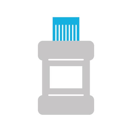 mouthwash bottle isolated icon vector illustration design