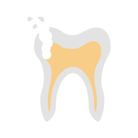 Human tooth with decay vector illustration design Illusztráció