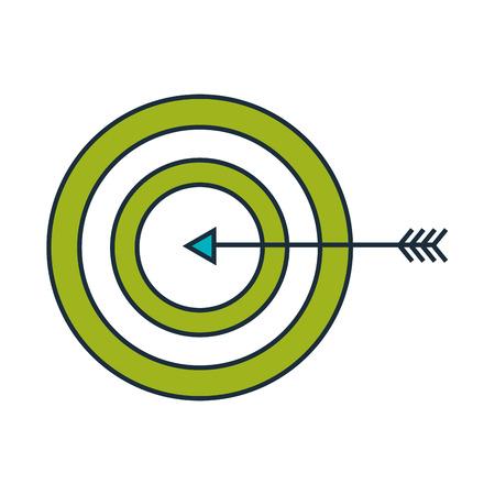 Target with arrow icon vector illustration design Illustration
