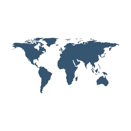 地球地図孤立したアイコンベクトルイラストデザイン