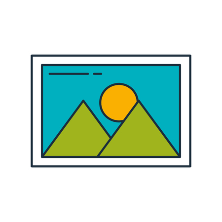 picture file isolated icon vector illustration design Ilustracja