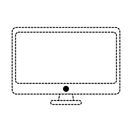 モニターコンピュータ分離アイコンベクトルイラストデザイン  イラスト・ベクター素材