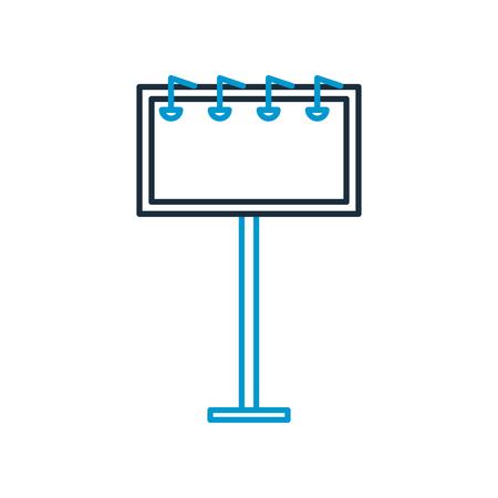 ontwerp van de het pictogram het vectorillustratie van de grote straataankondiging Stock Illustratie