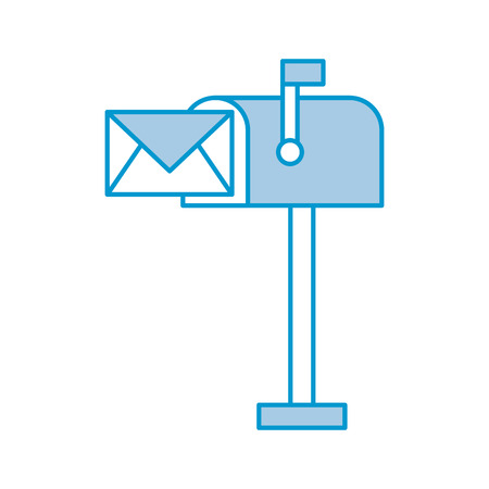 mailbox with envelope mail isolated icon vector illustration design