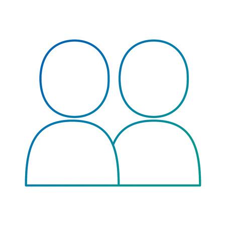 gebruikers silhouetten avatars pictogram vector illustratie ontwerp Stock Illustratie