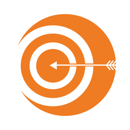 target with arrow icon vector illustration design Stock Vector - 94942062