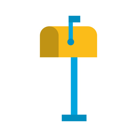 mailbox wooden isolated icon vector illustration design