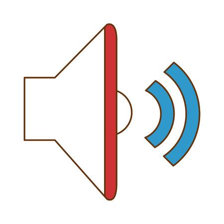 speaker audio isolated icon vector illustration design Ilustracja