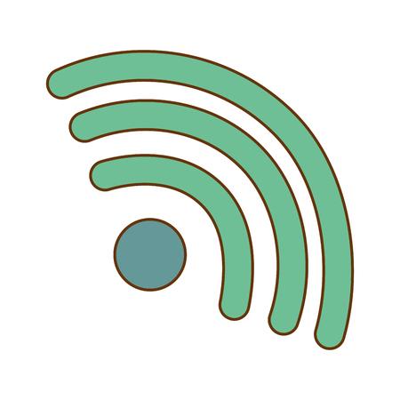 wifi waves signal icon vector illustration design