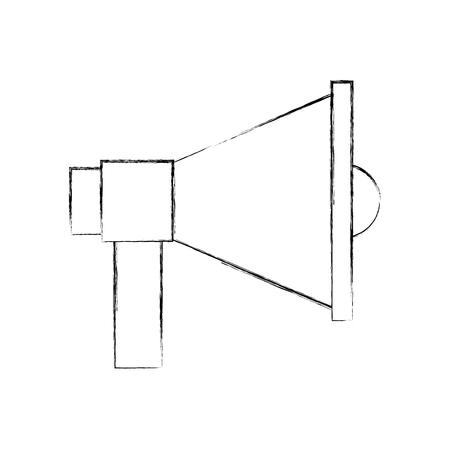 확성기 소리 격리 된 아이콘 벡터 일러스트 레이 션 디자인