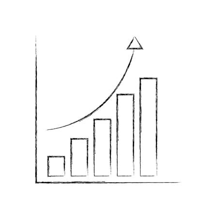 statistics graphic isolated icon vector illustration design