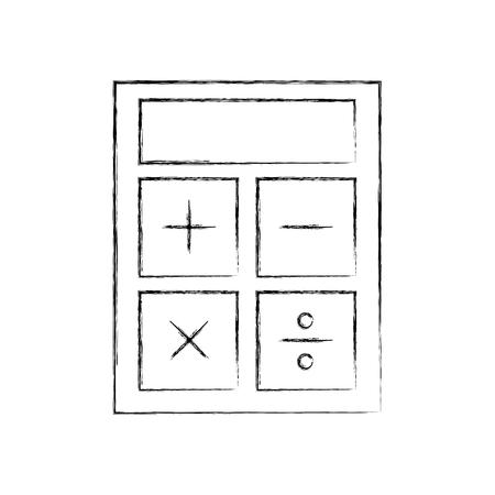 A calculator device isolated icon vector illustration design