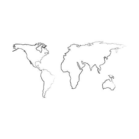 지구지도 격리 된 아이콘 벡터 일러스트 레이 션 디자인 스톡 콘텐츠 - 94942270