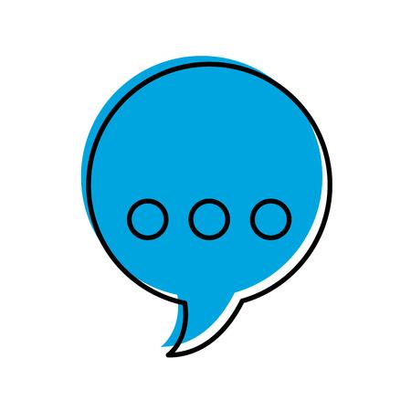 音声バブルメッセージアイコンベクトルイラストデザイン  イラスト・ベクター素材