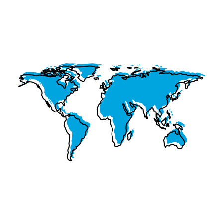 earth maps isolated icon vector illustration design Illustration