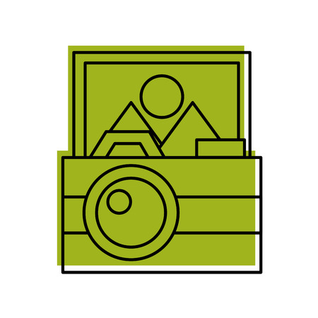 camera photographic with picture vector illustration design 向量圖像