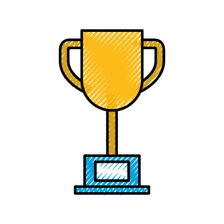 trophy cup isolated icon n vector illustration design Illusztráció