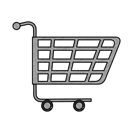 shopping cart isolated icon illustration design