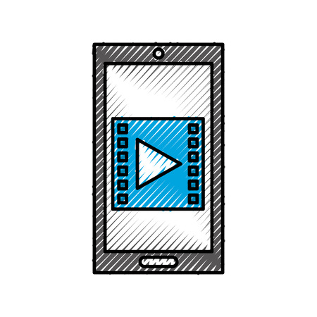 smartphone with media marketing vector illustration design