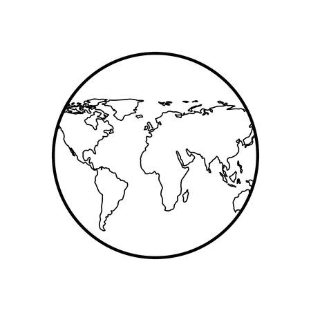 지구지도 격리 아이콘 벡터 일러스트 레이 션 디자인 스톡 콘텐츠 - 95070087