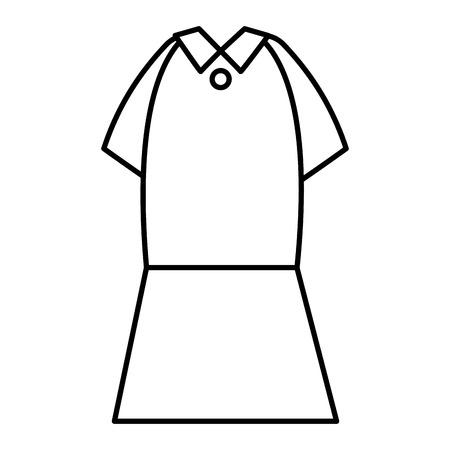 elegant femenine costume icon vector illustration design Çizim