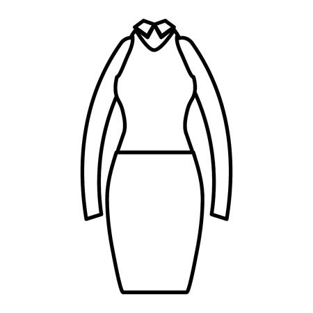 elegant femenine costume icon vector illustration design Illustration