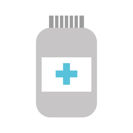 bottle drug isolated icon vector illustration design