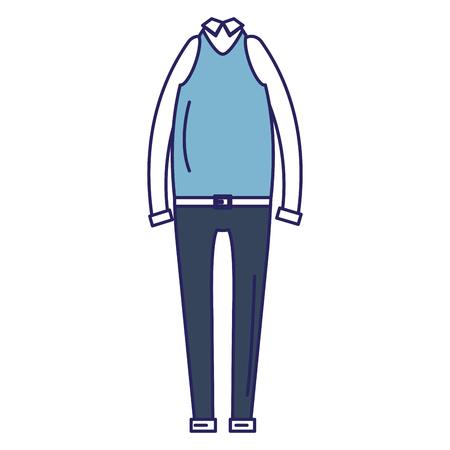 Elegant masculine costume icon vector illustration design Stock Vector - 94971861
