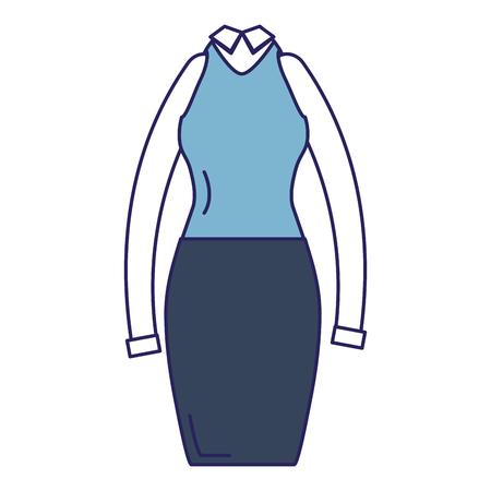 Elegant femenine costume icon vector illustration design