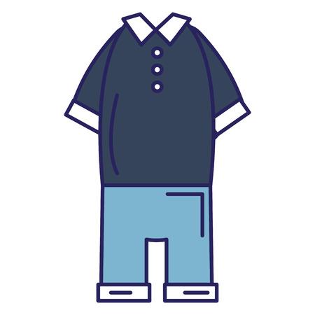 Elegant masculine costume icon vector illustration design