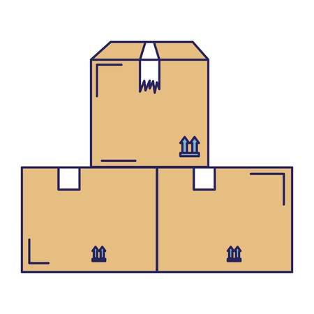 Delivery carton boxes icon vector illustration design