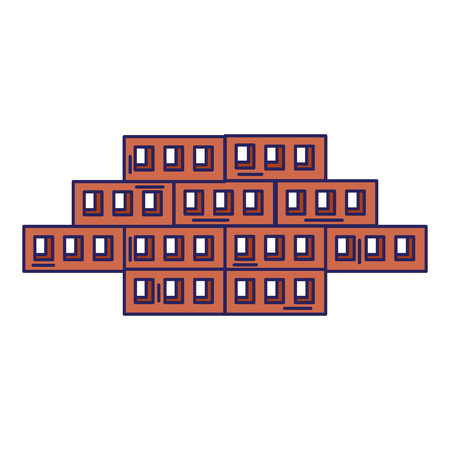Wooden pallets warehouse icon vector illustration design