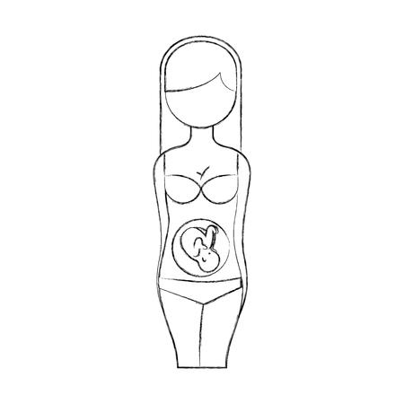 Grossesse femme torse icône illustration vectorielle design Banque d'images - 94984180