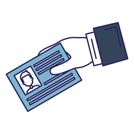 Hand with id document card icon vector illustration design Illusztráció