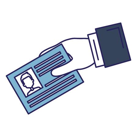 IDドキュメントカードアイコンベクトルイラストデザインの手  イラスト・ベクター素材