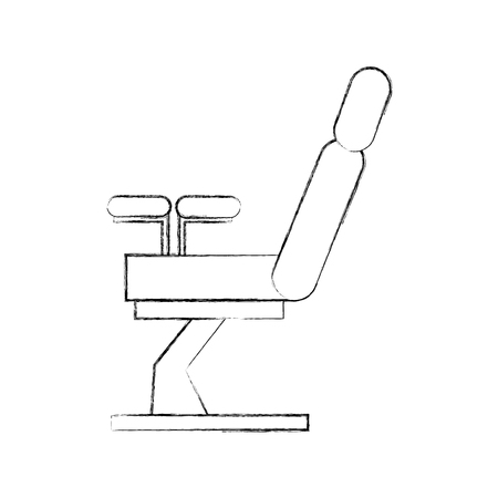 Gynecological chair isolated icon vector illustration design Illustration
