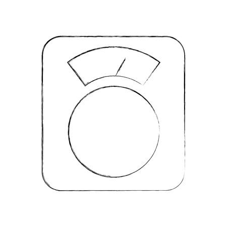 スケールバランス分離アイコンベクトルイラストデザイン