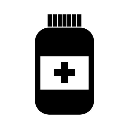 bottle drug isolated icon vector illustration design