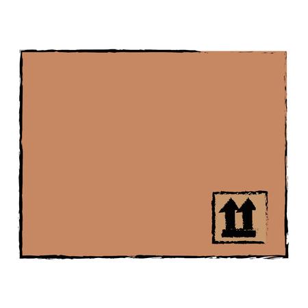 delivery carton box icon vector illustration design Ilustrace